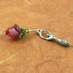 Blessingway bead - Gentle wine rose goddess, earth, md
