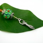 Blessingway bead - Irish spice goddess, leaf, md
