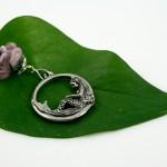 Blessingway bead - Rose mermaid, leaf, md