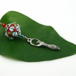 Blessingway bead - Royal goddess, leaf, md
