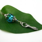 Blessingway bead - Summer leaves goddess, leaf, md