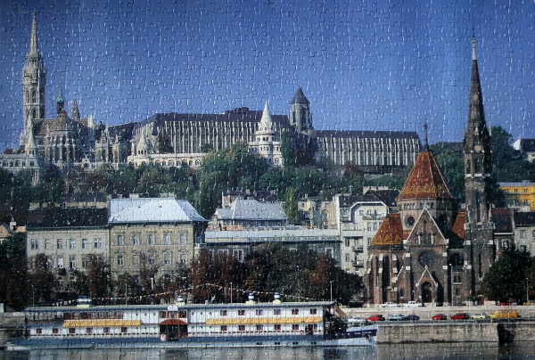 Castle District Skyline, Budapest, Hungary, med