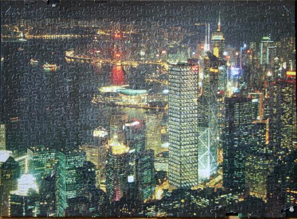 Hong Kong Harbour, China, med