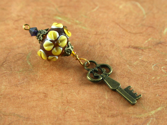 Blessingway bead - Earth flower key, md