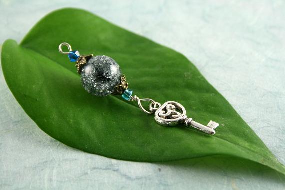 Blessingway bead - Night sky key, blue, md