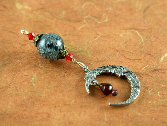 Blessingway bead - Starry sky and moonlight, earth, md