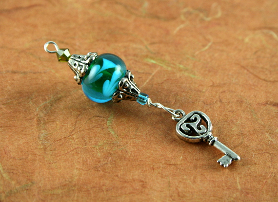 Blessingway bead - Summer leaves key, md