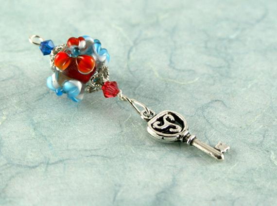 Blessingway bead - blooming flower key, md