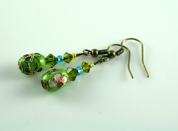 Earrings - Green sky, md
