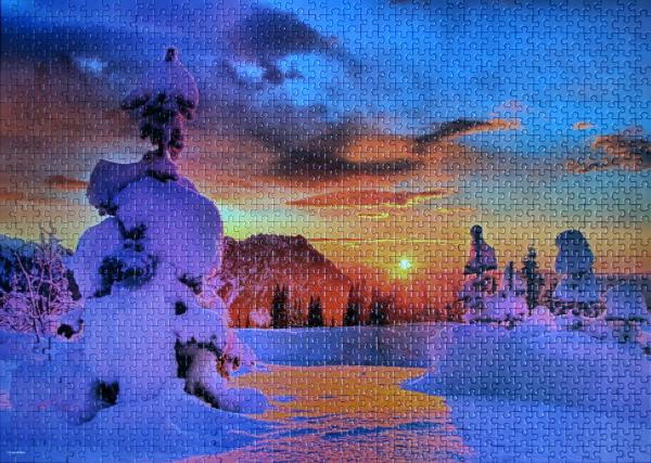 Fire Sunset on Mount Rainier, med