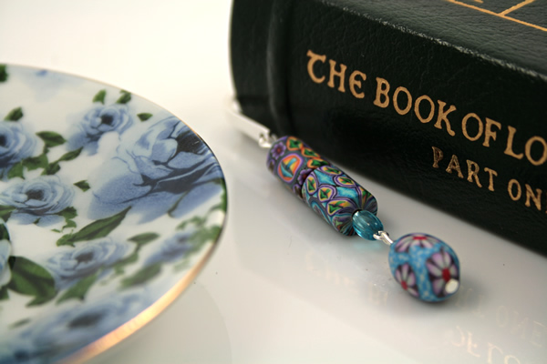Blue daisy silver plated bookmark, etsy, book, medium