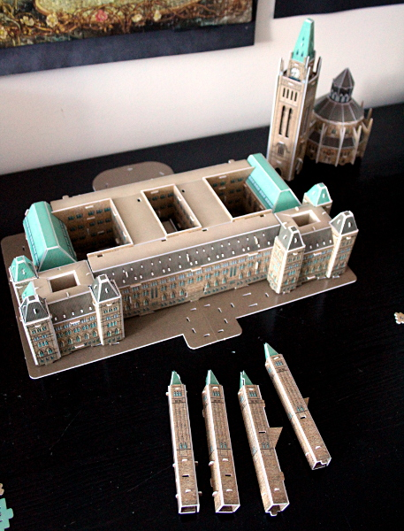 3D Parliament Puzzle - core and towers, md