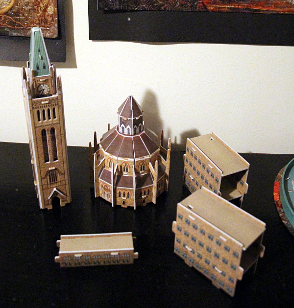 3D Parliament Puzzle - tower, library, three buildings, md