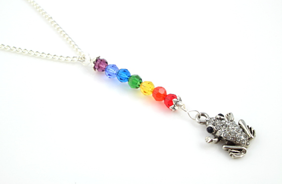 7 chakras necklace - Frog, md
