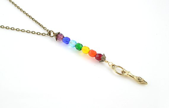 7 chakras necklace - Golden goddess, md