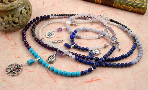Lapis chalcedony fertility and pregnancy tracking necklaces and bracelets, md
