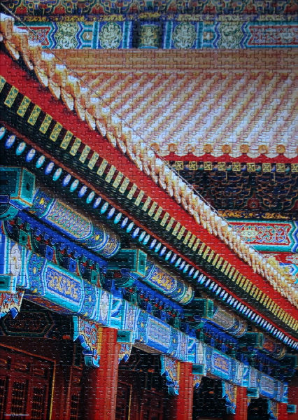 Detail of Roof on a Chinese Temple, med