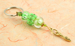 Keychain - Green Spring Morning Goddess, sm