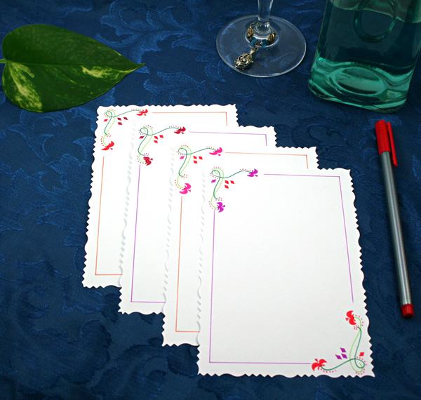 Spring fames cards, etsy, back, medium