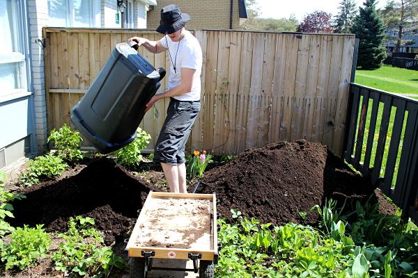 Dumping soil, md