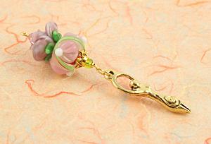 Blessingway Bead - Golden Rose Petals Goddess