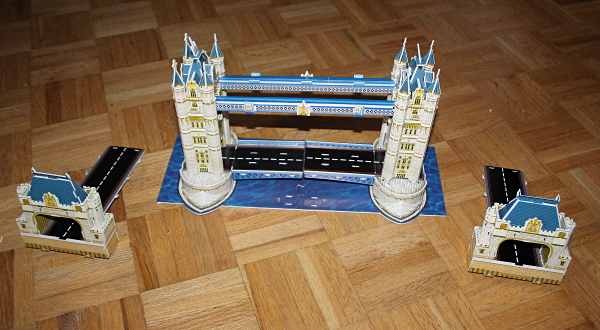 Londow Tower Bridge 3D puzzle, connection, med