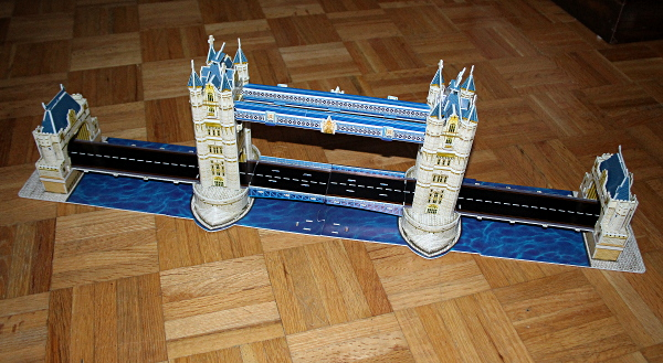 Londow Tower Bridge 3D puzzle, full bridge 2, med