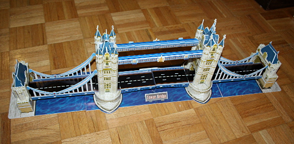Londow Tower Bridge 3D puzzle, full bridge, med