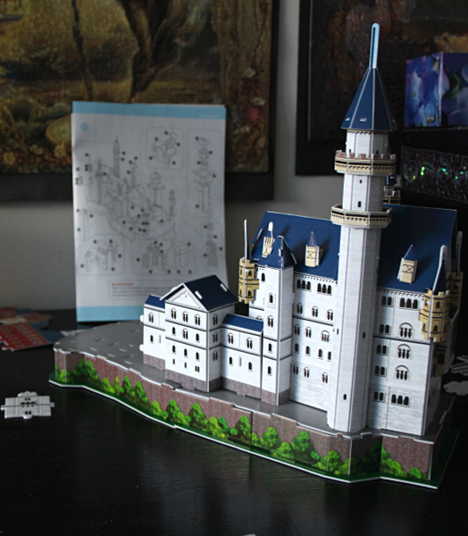Neuschwanstein Castle 3D puzzle, 5 towers, med