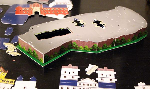 Neuschwanstein Castle 3D puzzle, base, med