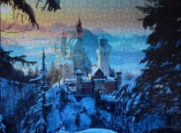 Winter at Neuschwanstein Castle, med