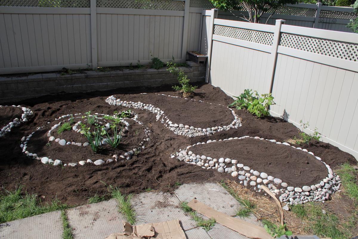 Back yard, building beds, right soil 1200