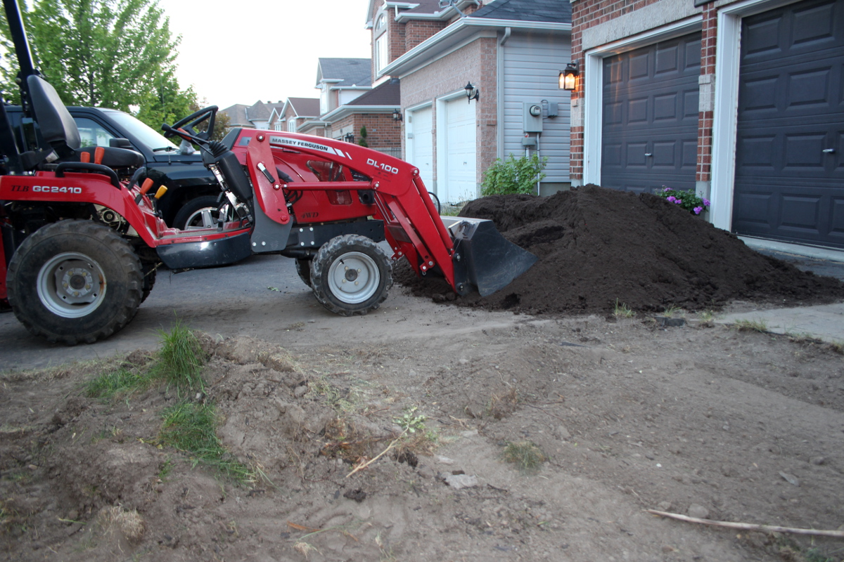 Excavator parked 1200